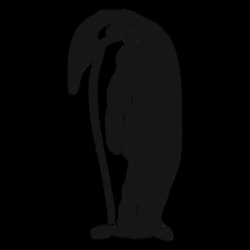Pájaro de doodle de ala de pico de pingüino