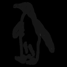 Pingüino ala pierna pico doodle ave