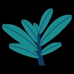 Pflanzen Sie Baumbüsche Blatt flache Pflanze