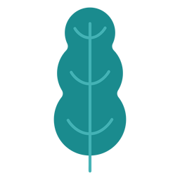 Plant tree leaf bushes flat plant
