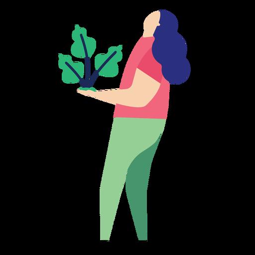 Planta mulher folha pessoa plana Transparent PNG