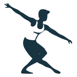 Posture ballet dancer detailed silhouette ballet