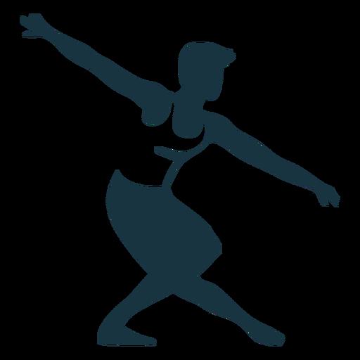 Posture ballet dancer detailed silhouette ballet Transparent PNG