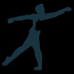 Postura graça bailarino silhueta detalhada balé