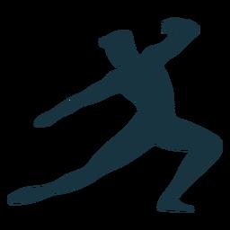 Postura graça balé silhueta balé