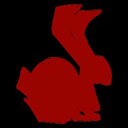 Coelho coelho orelha perna cauda padrão silhueta detalhada lebre
