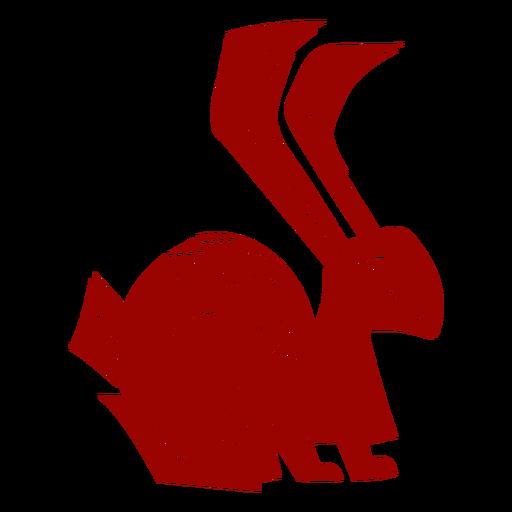 Conejo conejo oreja pierna cola detallada silueta silueta liebre Transparent PNG