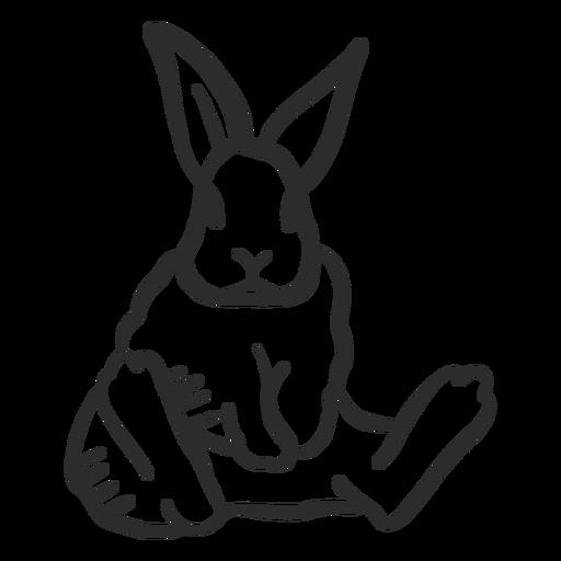 Rabbit bunny muzzle ear sitting doodle hare Transparent PNG