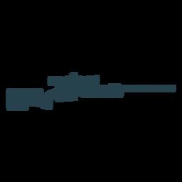 Cargador de rifle barril culata arma silueta rayada