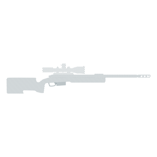 Rifle charger barrel butt weapon striped silhouette gun Transparent PNG