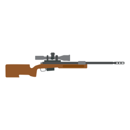 Cargador de rifle cañón arma culata pistola plana