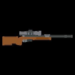 Rifle charger barrel weapon butt flat gun