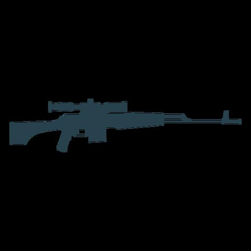 Rifle cargador barril arma trasero silueta pistola Transparent PNG