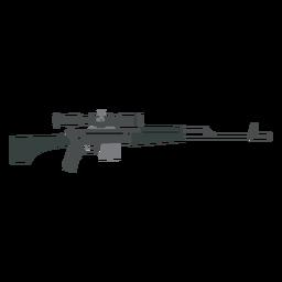 Cargador de rifle tope cañón arma pistola plana