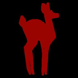 Ovas corça cauda casco padrão silhueta detalhada animal