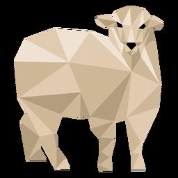 Sheep lamb ear wool hoof low poly animal
