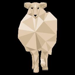 Oveja cordero pezuña lana oreja baja poli animal