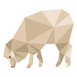 Sheep lamb wool ear hoof low poly animal