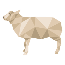 Sheep lamb wool hoof ear low poly animal