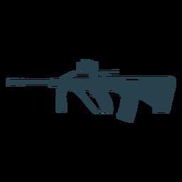 Subfusil ametralladora cargador de cañón arma silueta a tope