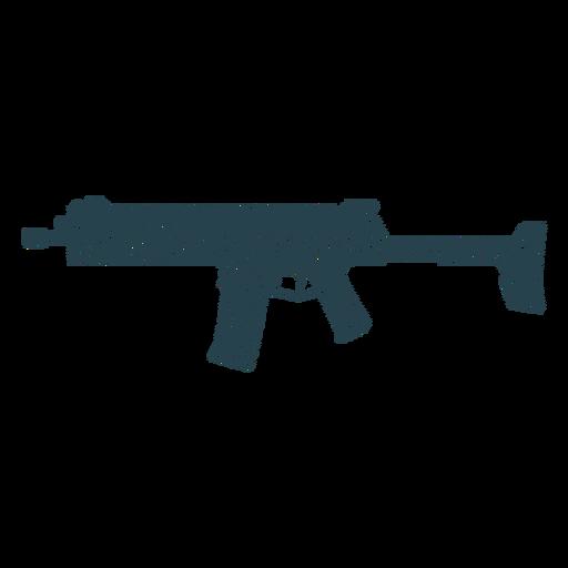 Submachine gun barrel charger weapon butt striped silhouette gun Transparent PNG