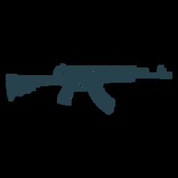 Subfusil ametrallador pistola de cargador de barril silueta de rayas
