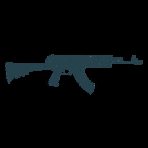 Subfusil ametrallador pistola de cargador de barril silueta de rayas Transparent PNG