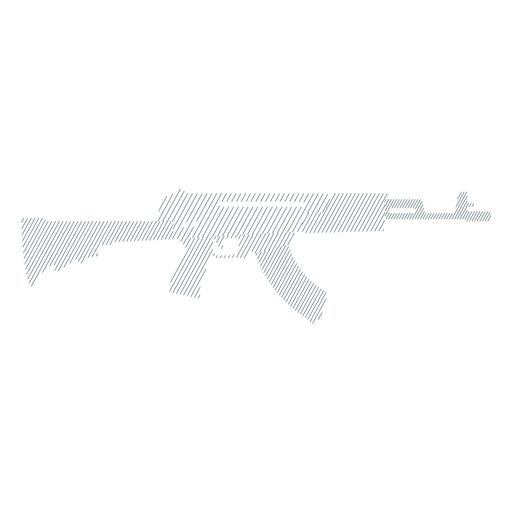 Submachine gun butt weapon charger barrel striped silhouette gun Transparent PNG