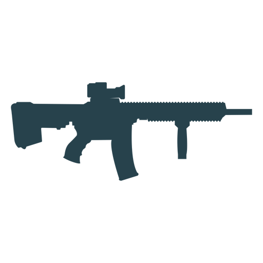 Submachine gun charger weapon barrel butt silhouette gun Transparent PNG