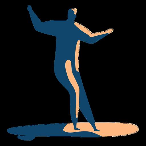 Surfer hombre tabla de surf postura detallada silueta verano Transparent PNG