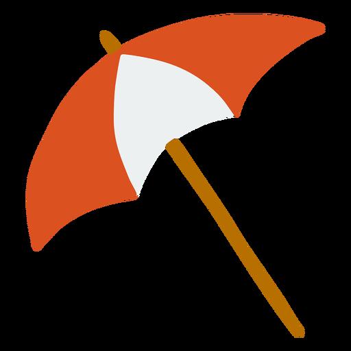 Umbrella handle stripe flat summer Transparent PNG