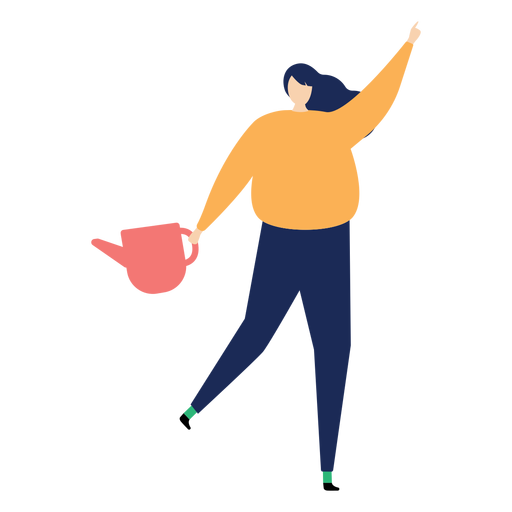 Watering can watering pot woman flat watering Transparent PNG