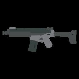 Arma cañón culata subfusil cargador cargador pistola plana
