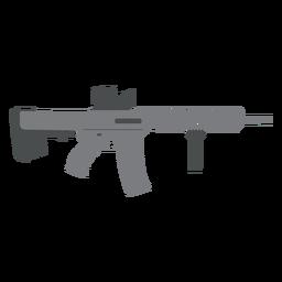 Weapon barrel submachine gun butt charger flat gun