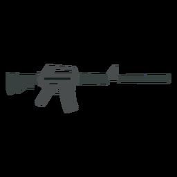 Arma plano cargador de ametralladora de cañón a tope pistola plana
