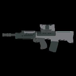 Arma a tope cargador ametralladora cañón pistola plana