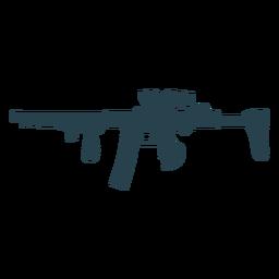 Arma bunda metralhadora carregador barril silhueta arma