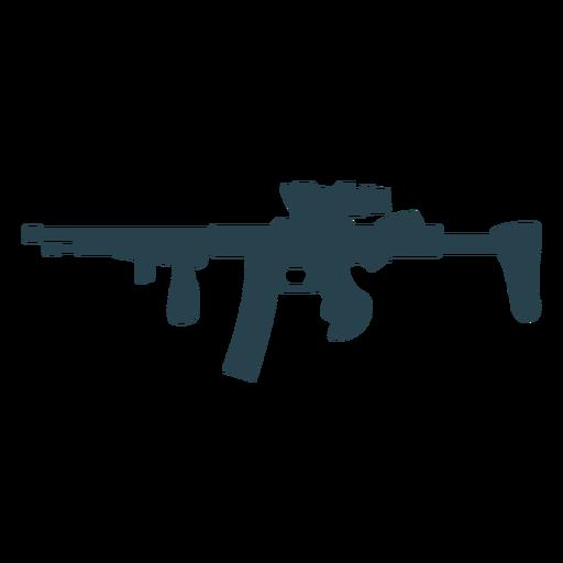 Weapon butt submachine gun charger barrel silhouette gun Transparent PNG