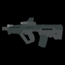 Cargador de armas cañón a tope ametralladora pistola plana