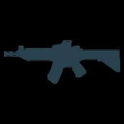Cargador de armas ametralladora pistola de silueta de barril trasero