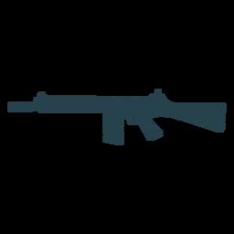 Arma subfusil ametralladora cargador de barril trasero pistola de silueta a rayas