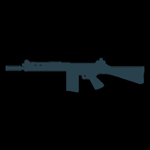 Arma subfusil ametralladora cargador barril silueta de pistola Transparent PNG