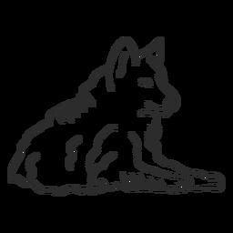 Lobo aullido depredador oreja mentira doodle animal