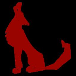 Animal de silhueta detalhada de padrão de orelha de predador uivo de lobo