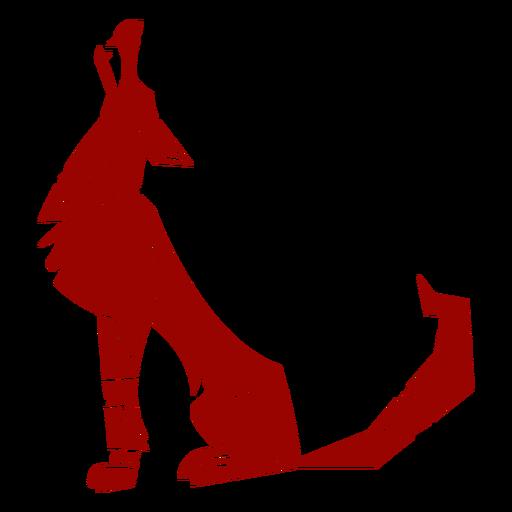 Patrón de oreja de depredador aullido de lobo silueta detallada animal Transparent PNG