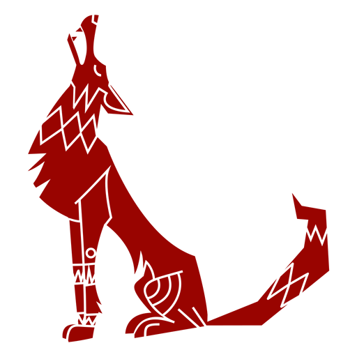 Wolf howl predator ear pattern detailed silhouette animal Transparent PNG