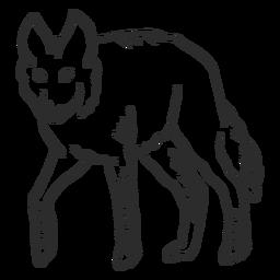 Lobo uivo predador orelha cauda doodle animal