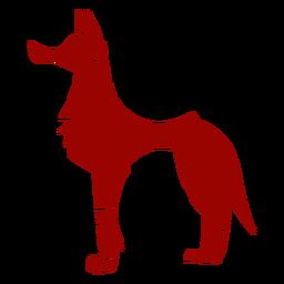 Padrão de orelha de predador de cauda de lobo detalhada silhueta animal
