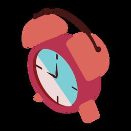 Relógio despertador com seta plana