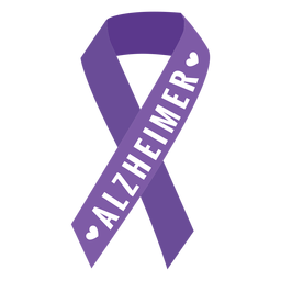 Alzheimer ribbon heart badge sticker